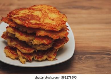 potato pancakes, food background