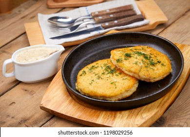 potato pancakes with sauce