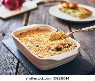 Potato pie with spinach - Gateau