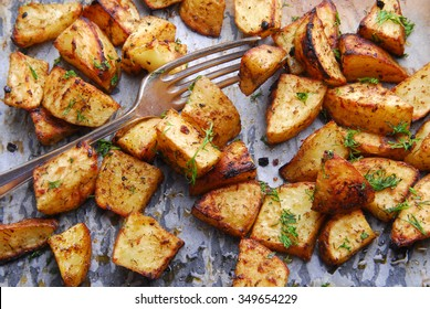 potato roasted with fork