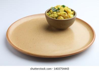 potato sabzi or Aloo Methi masala is healthy Indian Cuisine. served in a bowl or karahi. selective focus