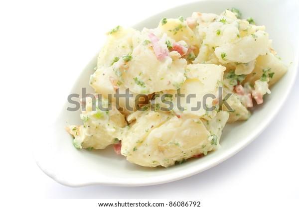 Potato Salad isolated on white