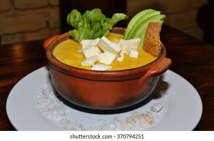 potato soup from Ecuador