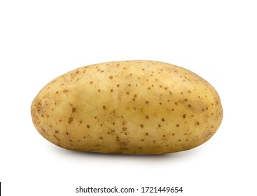 Potato vegetable isolated on white background with clipping path.