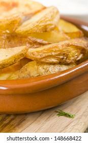 Potato Wedges - Crispy potato wedges served with aioli. Spanish tapas!