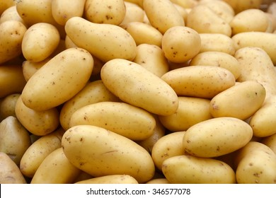 Potatoes background.