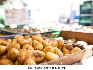 potatoes at the bazaar