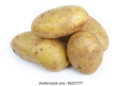 Potatoes isolated on a white background