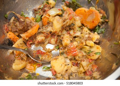 Potatoes and meat