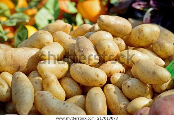 Potatoes on the market