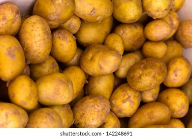 Potatoes for selling at vegetable market