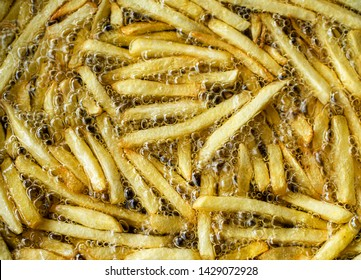 Potatoes that are fried in hot oil.