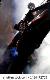Potchefstroom, North West South Africa 02042010 guitarist up close with smoke