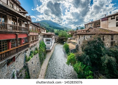 Potes , one of the most interesting tourist spots of theComarcaofLiebananear Santander, Cantabria province, Spain.