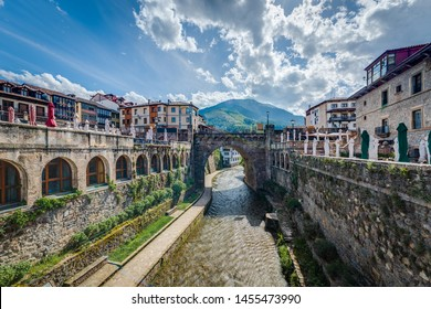 Potes is one of the most interesting tourist spots of the Comarca of Liebana near Santander, Cantabria province, Spain.