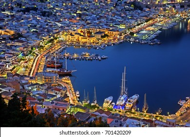 Pothia, the capital town of  Kalymnos island, Dodecanese, Greece