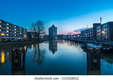 The potlood of Apeldoorn taken during blue hour with reflections.