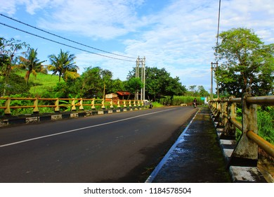 poto scenery one of the roads in the village - Shutterstock ID 1184578504