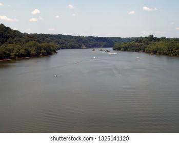 The Potomac River at Georgetown near Washington D.C.