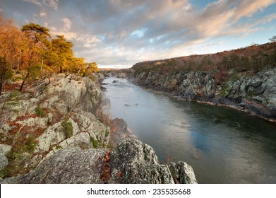 Potomac River Great Falls National Park Mather Gorge Geologic Attraction