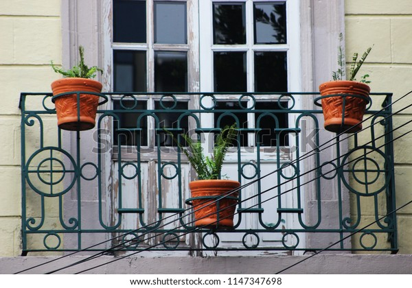 Pots on the balcony