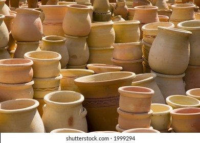 pots on a middle east market, Israel