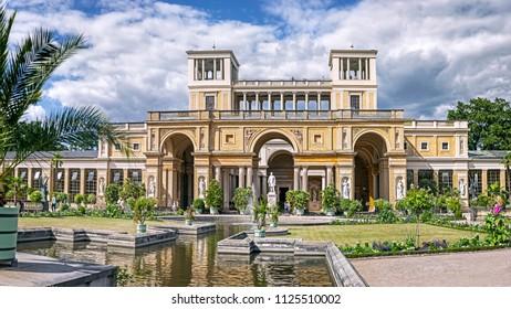 Potsdam, Germany - 30 June 2018: The Orangery Palace in the Sanssouci Park