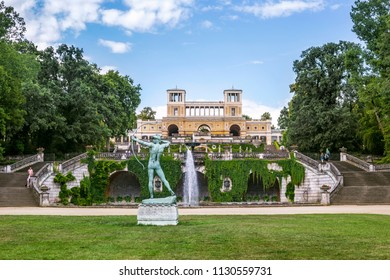 Potsdam, Germany - 30 June 2018: The Orangery Palace in the Sanssouci Park