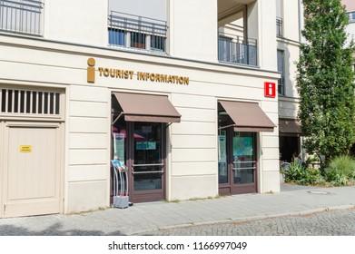 Potsdam, Germany - August 17, 2018: Tourist information office in Potsdam.