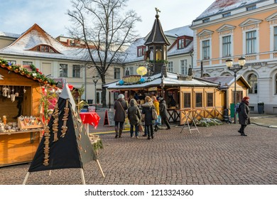 POTSDAM, GERMANY - DECEMBER 26, 2014: The traditional Old Potsdam Christmas Market in the historical town centre close to Sanssouci Palace.