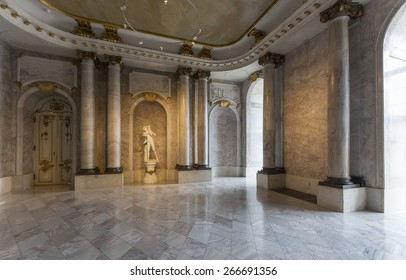POTSDAM, GERMANY   DECEMBER 26, 2014: Interior Of The New Palace, Situated