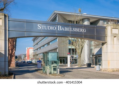 Potsdam, Germany - March 4, 2016; Entrance in Babelsberg film studio. Babelsberg, Potsdam, Brandenburg, Germany. Editorial use only.