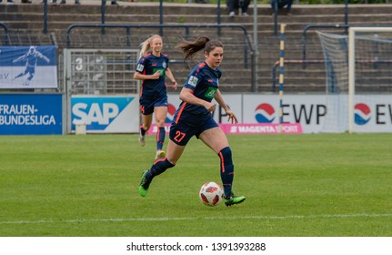 POTSDAM - MAY 5: Turbine Potsdam player Sarah Zadrazil in action during Match of the Allianz Frauen Bundesliga 1.FFC Turbine Potsdam and MSV Duisburg on May 5, 2019 in Potsdam, Germany.