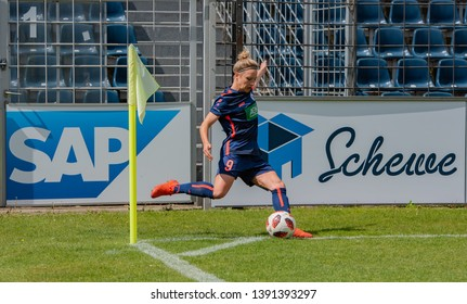 POTSDAM - MAY 5: Turbine Potsdam player Svenja Huth  in action during Match of the Allianz Frauen Bundesliga 1.FFC Turbine Potsdam and MSV Duisburg on May 5, 2019 in Potsdam, Germany.
