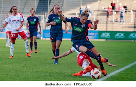 POTSDAM - SEPTEMBER 29: Turbine Potsdam player Svenja Huth in action during Match of the AFBL 1.FFC Turbine Potsdam and 1.FFC Frankfurt  on September 29, 2018 in Potsdam, Germany.