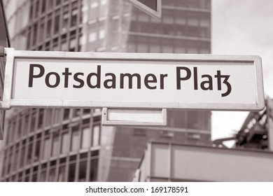 Potsdamer Platz Street Sign, Berlin; Germany