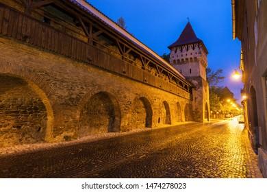 The Potter Tower in Sibiu. Sibiu, Sibiu County, Romania.