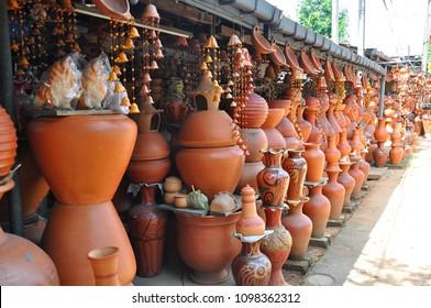 Pottery arrangement Sri Lanka