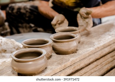 Pottery clay Handmade clay pot