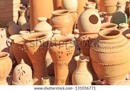 Pottery Different Handicrafts Nizwa Market Nizwa Stock Photo Edit