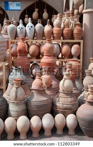Pottery Handicrafts On Sale Shop Nizwa Stock Photo Edit Now