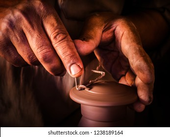 Pottery making  in the village of Tunisia, Egypt, August 2014