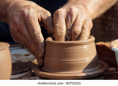 Pottery. The manufacturing process of clay ware.