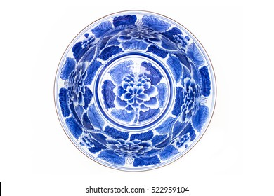 pottery porcelain on white background