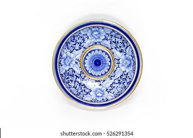 pottery porcelain on white background