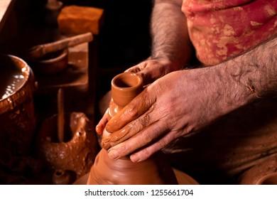 Pottery; potter making