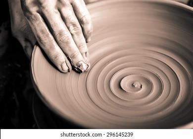 Pottery, Sculptor, Potter.