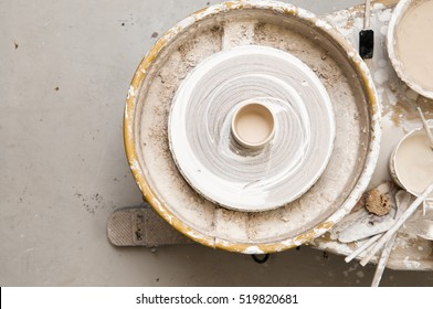 Pottery wheel and creative tools