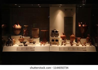 Pottery/Anatolian Civilizations Museum.ANKARA/TURKEY 14.09.2015