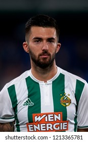 Potzmann of Rap Wien during the Group G match of the UEFA Europa League between Villarreal CF and Rapid Wien at La Ceramica Stadium Villarreal, Spain on October 25, 2018.